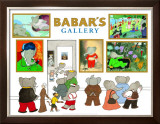 Babar&#39;s Gallery Poster by Laurent de Brunhoff