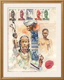 African Women Prints by Marc Lacaze