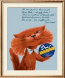 Voro Cat Smiling Framed Giclee Print