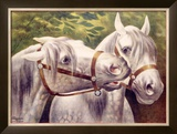Livestock Horse Fair Framed Giclee Print