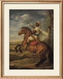 Moorish Chieftain on Horseback Poster by Tim Ashkar