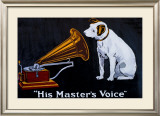 His Master's Voice Framed Giclee Print
