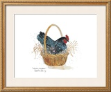 Chicken in a Basket Posters by Robert A. Fleming