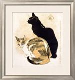 Cats Framed Giclee Print by Théophile Alexandre Steinlen