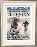 S.F. Cody vs. Fournier and Gaby Framed Giclee Print