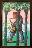 San Diego Jazz Festival Limited Edition Framed Print by Milton Glaser