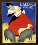 Concurso de Ganados Framed Giclee Print by  Capdevielle