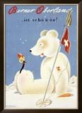 Berner Oberland Snow Ski Framed Giclee Print
