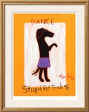Dance-Stupid Pet Trick 6 Limited Edition Framed Print by Ken Bailey