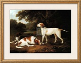 Pointer and Two Spaniels in a Park Posters by C. Schwanfelder