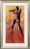 Trumpet Solo Prints by Monica Stewart
