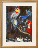The Flying Horse Poster by Marc Chagall