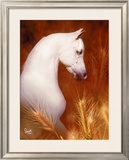 Wheat Field Framed Giclee Print by Suzanne Sturgill
