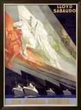 Lloyd Sabaudo Framed Giclee Print by Giuseppe Riccobaldi