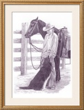 Devotion Framed Giclee Print by Lorrie Beck