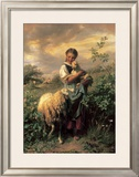 The Young Shepherdess Posters by Johann Baptist Hofner