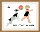East Coast Liner Framed Giclee Print by Tom Purvis