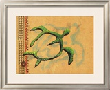 Hilihili Honu, Green Sea Turtle Framed Giclee Print by Lynn Cook