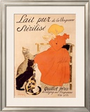 Lait Pur Sterilise Cats Framed Giclee Print by Théophile Alexandre Steinlen