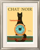Chat Noir II - Black Cat Limited Edition Framed Print by Ken Bailey