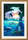 Seven Dolphins Print by Jim Warren
