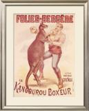 Folies Bergere, Boxing Kangaroo Framed Giclee Print