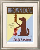 Brown Dog Cookies Limited Edition Framed Print by Ken Bailey