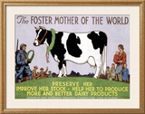 Foster Mother of the World Framed Giclee Print by Richard Fayerweather Babcock