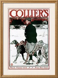 March Colliers Greyhound Framed Giclee Print