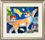 Nice Kitty's Dream with Moonfish Art by Michael Leu