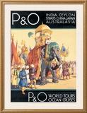 P&O Ocean Cruises Framed Giclee Print by Dorothy Newsome