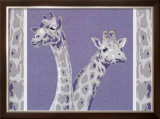 Two Giraffes Art by Javier Palacios