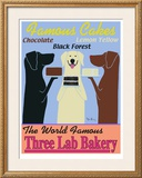 Three Lab Bakery Limited Edition Framed Print by Ken Bailey