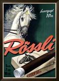 Rossli Cigars Framed Giclee Print by Iwan E. Hugentobler