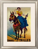 Aperitif Trilles Framed Giclee Print by G. Lafin