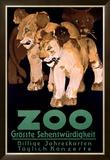 Zoo Grosste Schenswurdigkeit Framed Giclee Print