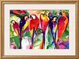 Parrot Family Prints by Alfred Gockel