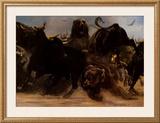 Bear Bull Brawl Prints by Adrian De Rooy