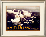 Biscotti Delser Framed Giclee Print by Mario Borgoni