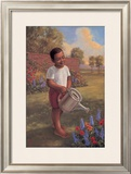 Child with Watering Can Poster by Tim Ashkar