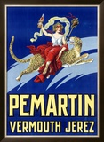 Pemartin Aperitif Vermouth Framed Giclee Print