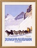 Jungfraubahn Schweiz Framed Giclee Print by Emil Cardinaux