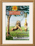 Liqueur Melina Framed Giclee Print by Leon Carre