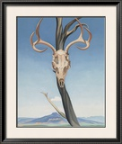 Deer's Skull with Pedernal Poster by Georgia O'Keeffe