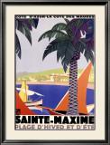 Sainte-Maxime Framed Giclee Print