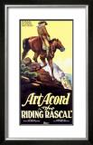 Art Acord Riding Rascal Cowboy Framed Giclee Print