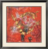 Fleurs Sur Fond Rouge, c.1970 Art by Marc Chagall