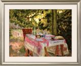 Table Set in a Garden Print by Pierre Bonnard