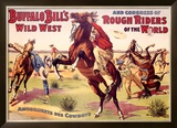 Amusements des Cowboys Framed Giclee Print