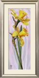 Two Yellow Daffodils Print by Maya Nishiyama